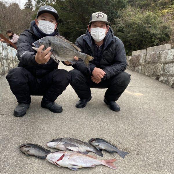 こだま渡船 カセ釣り釣果 2021/2/12