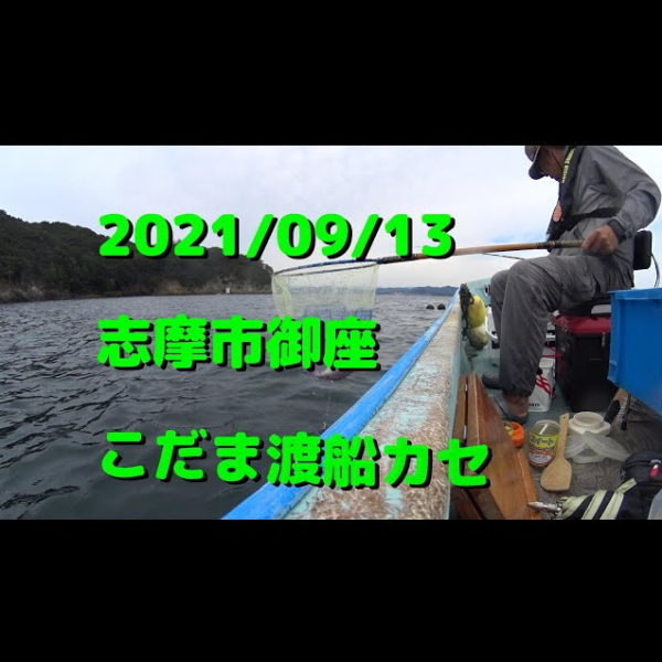 2021/09/13英虞湾御座 こだま渡船カセ(チヌかかり釣り)